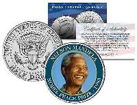 NELSON MANDELA * NOBEL PEACE PRIZE * 1993 Medal Winner JFK Half Dollar U.S. Coin for sale  Shipping to South Africa